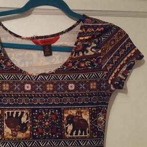Elephant Print Maxi Dress NWOT